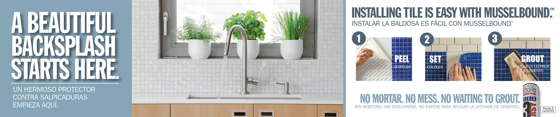 Musselbound tiling products