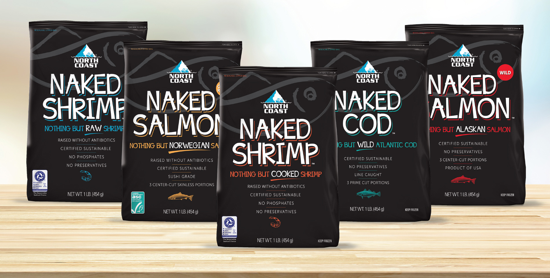North Coast Naked Packages