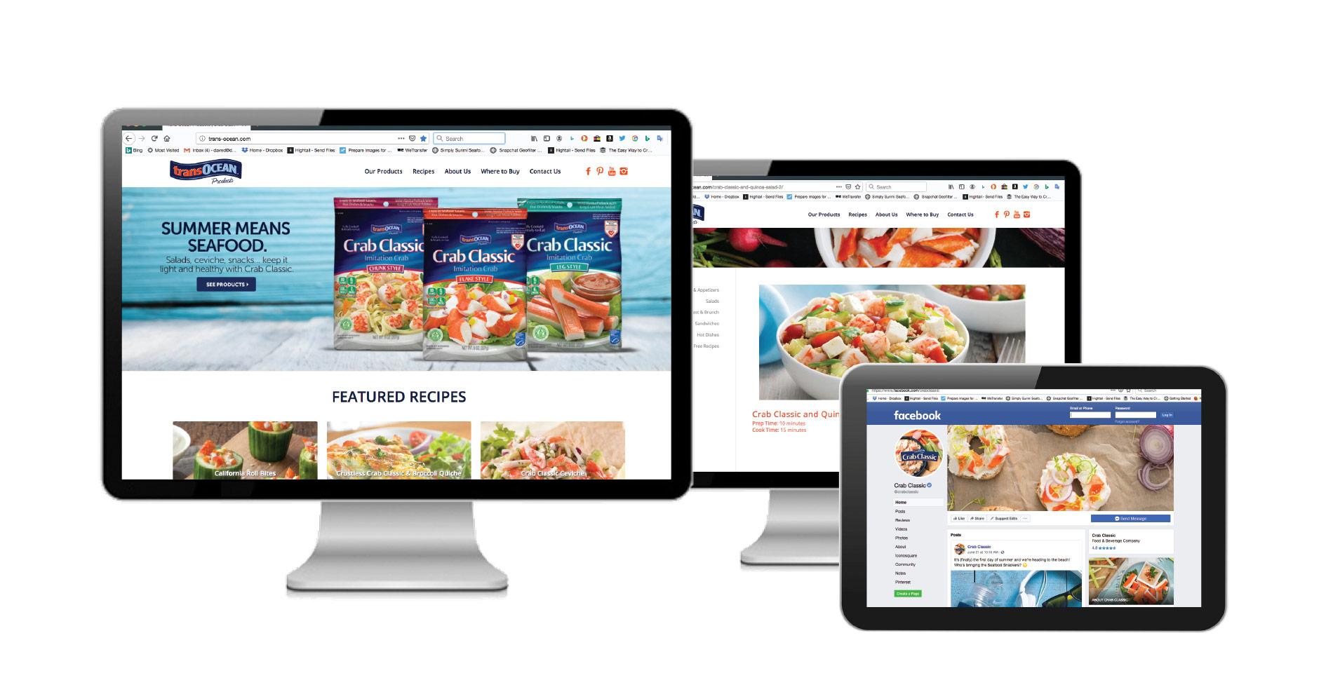 Trans-Ocean online and social marketing