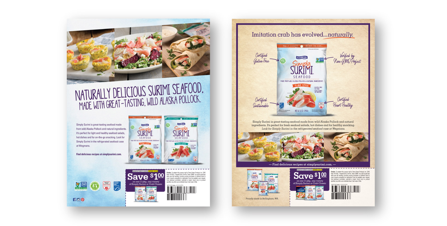 Trans Ocean Simply Surimi Print Ads