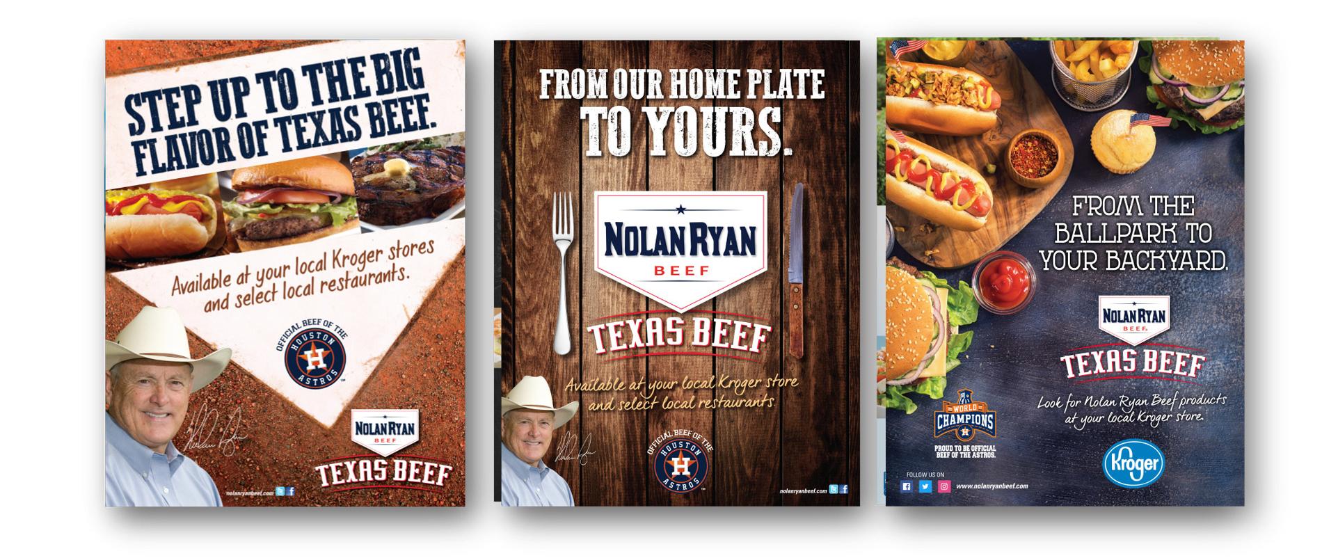 Nolan Ryan Beef Advertisements